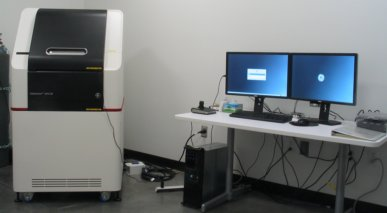 picture of the OMX SR microscope, click to see a larger version